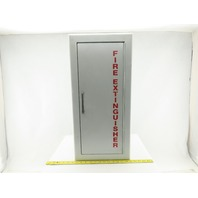 "Larsen's Wall Mount Semi-Recessed Fire Extinguisher Cabinet 24""x9-1/2""x6"""