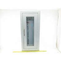 Larsen's Wall Mount Semi-Recessed Fire Extinguisher Cabinet W/ Glass 24x9-1/2x6""