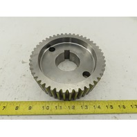 "6-1/8"" OD x 2"" Wide 46 Tooth Drive Gear 1-5/32"" Keyed  Bore"