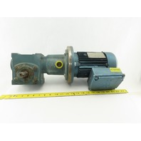 Tigear/Sew Eurodrive Size 17 3/4Hp Gear Motor 15:1 Ratio 133.3 RPM 230/460V