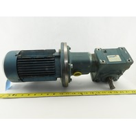 Tigar/Sew Eurodrive 17S15R 3/4Hp Gear Motor 15:1 Ratio 133.3 RPM 230/460V 3Ph
