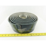 """4"""" Wide 3 Ply 1/4"""" Thick Smooth Top Conveyor Belt V Groove Center Tracking 15'6"""""""
