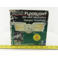 Regent TM0150W 300W Decorative Halogen Floodlight White