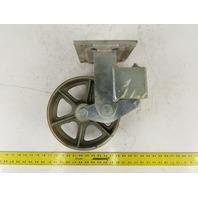 "Albion 10"" x 3"" Steel Wheel Spring Loaded Ride Caster Non Swivel"