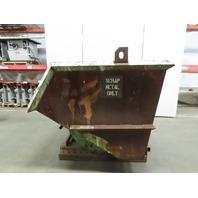 Roura 3 Cubic Yard Self Dumping Trash/Scrap Hopper 6000lb Cap