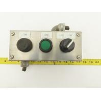 "Hoffman E3PBSS 8 x 3 x 3"" Stainless Steel 3 Button Operator Enclosure"