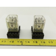 Potter Brumfield KRPA-5AG-24 24V 50/60Hz Ice Cube Relay With Socket Lot Of 2