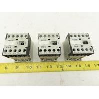 Teco CN-6 600V 20A Magnetic Contactor 220V Coil Lot Of 3