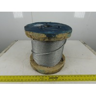 "5/16"" Galvanized Steel Cable Wire Rope 7x19 500' Spool"