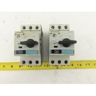 Siemens 3RV1421-1FA10 600V 32A Manual Starter Breaker 3.5-5A Trip Lot Of 2