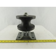 """2-1/2"""" Groove Plate Wall Mounted Cantilever Security Gate Roller"""