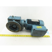 Sew Eurodrive SAF47DT80K4 71.75:1 Ratio 24RPM .75Hp 230/460V 3Ph Gear Motor