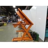 "Air Tech Ind. 1000LB Scissor Lift & 45° Tilt 50x48"" Table 115V Single Phase"