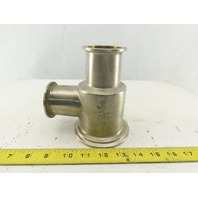 "3"" x 2"" x 2"" Stainless Steel Sanitary Offset Reducer Tee"