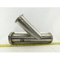 "3"" Stainless Steel Sanitary Lateral 45° Wye Y 13"" Tall"