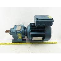 Sew Eurodrive R27DT90S4 19.35:1 Ratio 90RPM 1.5Hp 230/460V Inline Gear Motor