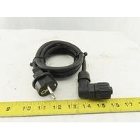 "Anlagenbu INOS 3608877032 EU Male Plug to 4 Pin Female Amphenol  6"" Power Cord"