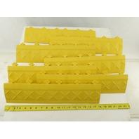 "ERGO 33VL87 Mat Ramp Edging Yellow 4"" x 18"" Lot of 7"