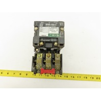 Square D SB0 2 Class 8536 600V 5Hp Magnetic Size 0 Starter Overload 480V Coil