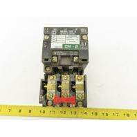 Square D SB0 2 Class 8536 600V 5Hp Size 0 Magnetic Starter Overload 120V Coil
