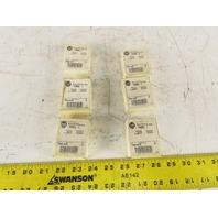 Allen Bradley 1492-N25 Terminal Block Mounting Channel Stand Off Brackets 6 Sets