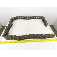"IDC 10' ANSI 240 Cottered Single Strand Roller Chain 40 Pin 3"" Pitch"