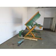 "Air Tech 2000LB Hydraulic Scissor Lift & 45° Tilt 50x48"" Table 115V Single Phase"