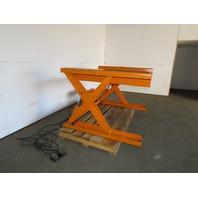 "Air Tech ZLC50x48E 1000lb Hydraulic Scissor Lift 50""x48"" Table 115V Single Phase"
