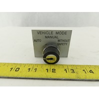 Telemecanique ZBE-101 NO NC Contact Keyed Selector Switch No Key 3 Position