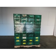 Buckhorn Green Straight Wall Plastic Tote Stackable Container 12x15x8 Lot of 134