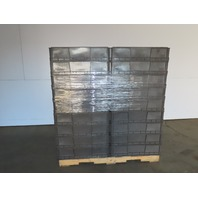 """Buckhorn Gray Straight Wall Plastic Tote Stackable Container 15x32x8"""" Lot of 54"""