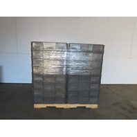 """Buckhorn Gray Straight Wall Plastic Tote Stackable Container 15x32x8"""" Lot of 48"""