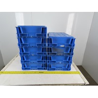 Buckhorn 241506SW02 Plastic Straight Wall Tote Storage Container 24x5x6 Lot of 9