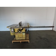 "Powermatic Model 72 7.5Hp 14"" Tilt Table Saw W/Fence & Blade Guard 208-230/460V"