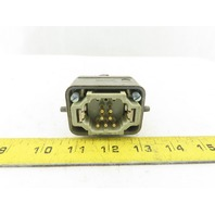 Harting Han 10EE-M 7 Pin Male Connector Housing Lever Lock Straight 600V
