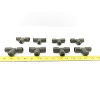 "Legris Nylon Union Tee Fitting Push to Connect 1/2"" X 3/8"" X 1/2"" lot of 8"