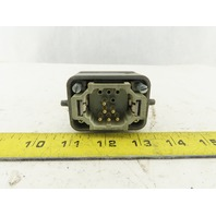 Harting Han 10EE-M 6 Pin Male Connector Housing Lever Lock Straight 600V