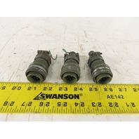 DDK MS3057-10A 18-1PF 24mm Circular Amphenol Style 10 Pin Male Connector Lot /3