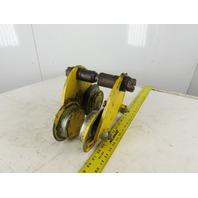 """1 Ton 2000 lb. Hoist Crane I-Beam Trolley Fits 2-1/2""""-5"""" Flange Width"""