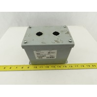 "Hoffman E2PBMX Extra-Deep 2 Pushbutton Electrical Enclosure 7""x4""x5"" Lot of 2"