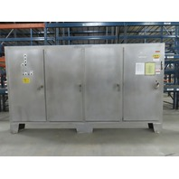"""80""""x160""""x12"""" Stainless Steel 4 Door Electrical Enclosure W/Back Plate"""