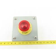 "Hoffman E1PBX Pushbutton Enclosure 4""x 4""x4-3/4"" W/Illuminated E-Stop BZBE-203"