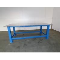 """3/8"""" Thick Top Steel Fabrication Layout Welding Table Work Bench 96""""x48""""x35-3/4"""""""