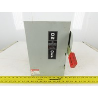 General Electric TH3361 30A 600VAC 250VDC 3 Pole Fused Disconnect Switch