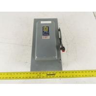 Allen Bradley H-362 60A 600VAC 3Ph 30A 3 Pole Fused Disconnect Switch