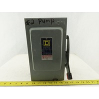 Square D 30A 600V AC/DC 30Hp Non Fused 3P Safety Disconnect Switch