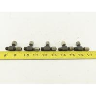LDI BA3300-2 1/8 Tube x 1/8 Tube x 1/8NPT Tee Self Flare Union Fitting Lot of 5