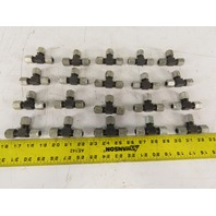 BA3200-5 5/16 Tube x 5/16 Tube x 5/16 Tube Tee Self Flare Union Fitting Lot/20