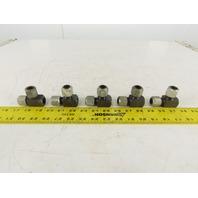 LDI BA3400-8 1/2 Tube x 1/2 Tube x 3/8FNPT Tee Self Flare Union Fitting Lot of 5