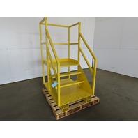 "Industrial 4 Step Steel Platform Ladder Forklift Work Cage 32-1/2"" x 23"" x 31"""